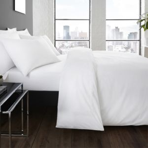 Serene Plain Dye Duvet Set, White