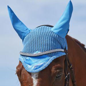 Weatherbeeta Marble Ear Bonnet – Blue
