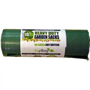 Eco Bag Heavy Duty Garden Sacks, 100 Litres - 10 Pack