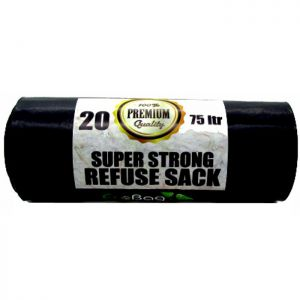 Eco Bag Super Strong Refuse Sacks, 75 Litres - 20 Pack