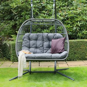 Eleanor Foldable Double Hanging Egg Chair