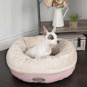 Scruffs Ellen Donut Dog Bed – Pink