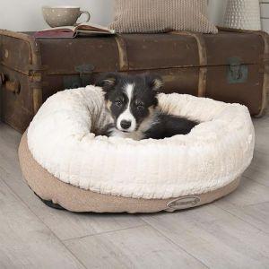 Scruffs Ellen Donut Dog Bed – Tan
