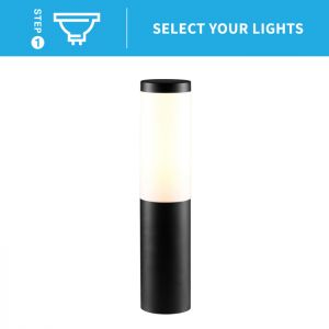 Ellumiere Bollard Light - Black
