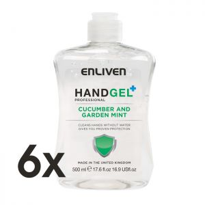 Enliven Cucumber & Garden Mint Antibacterial Hand Sanitiser - 500ml - Pack of 6