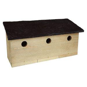 Ernest Charles Wooden Slate Sparrow Nesting Box
