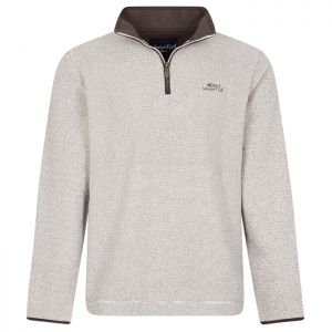 Weird Fish Errill 1/4 Zip Fleece - Ecru