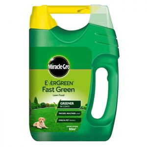 Miracle-Gro Evergreen Fast Green Lawn Food with Spreader - 80m²