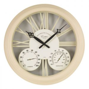 Outside In Exeter Thermometer & Wall Clock