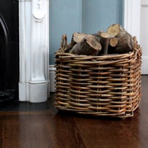 Extra Large Square Log Basket - Brown