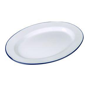Falcon Enamel Oval Plate – 36cm