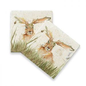 Kate of Kensington Marble Coasters – Family A' Hare, Pack of 4