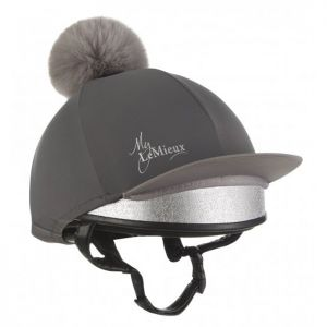 LeMieux Faux Pom Pom Hat Silk - Slate Grey
