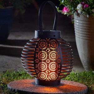 Smart Solar Ferrara Flaming Lantern