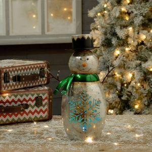 Festive LED Snowman Lantern
