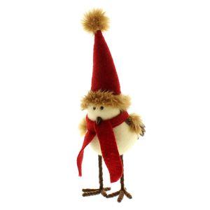 Festive Rocking Robin Santa Hat Ornament - 30cm
