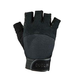 Dublin Fingerless Cross-Country Riding Gloves - Black