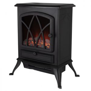 Warmlite WL46018 Log Effect Stove Fire with Thermostat - 2000W