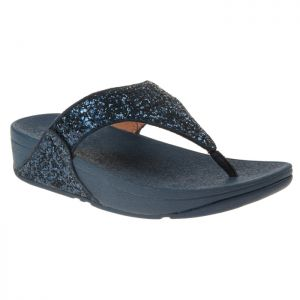 FitFlop Women's Lulu Glitter Toe-Post Sandals – Midnight Navy