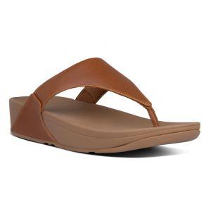 FitFlop Women's Lulu Leather Toe-Post Sandals – Light Tan