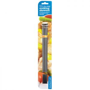 KitchenCraft Flat Sided Skewers, 30cm - Pack of 6