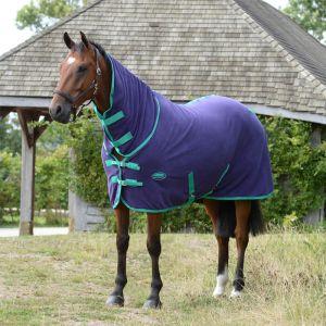 Weatherbeeta Fleece Cooler Combo Neck Rug - Purple/Green