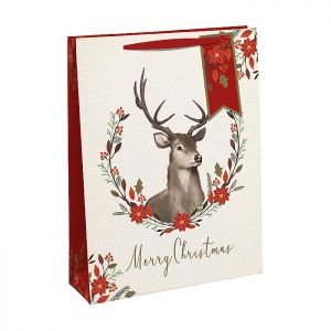 Floral Stag Gift Bag - Large
