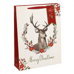 Floral Stag Gift Bag – Extra Large