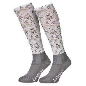 LeMieux Women's Footsie Socks - Unicorn Rainbow
