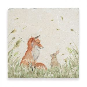 Kate of Kensington Large Marble Platter - Fox and Rabbit