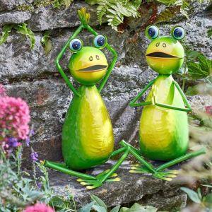 Yoga Frogs Garden Ornament