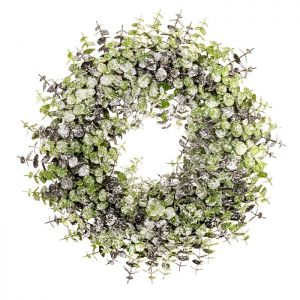 Sincere Frosted Eucalyptus Wreath – 40cm