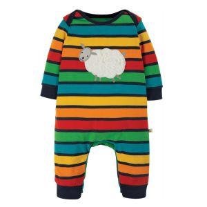 Frugi Baby Charlie Romper – Bumblebee Rainbow Stripe