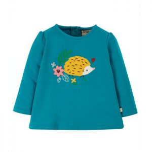 Frugi Baby Little Alana Applique Top – Tobermory Teal