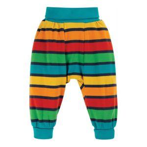 Frugi Baby Parsnip Pants – Bumblebee Rainbow Stripe