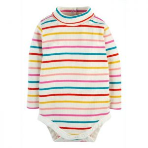 Frugi Baby Poppy Roll Neck Body – Ginger Rainbow