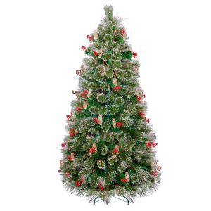 Premier Fibre Optic Snow Tip Christmas Tree - 1.2m