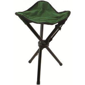 Highlander Steel Camping Tripod Stool - Green