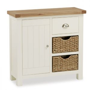 Global Home Suffolk Small Sideboard with Baskets