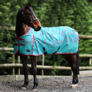 Gallop Sea-Horse Lite Standard Neck Turnout Rug – Aqua Blue