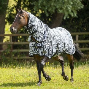 Gallop All in One Combo Fly Rug - Zebra Print