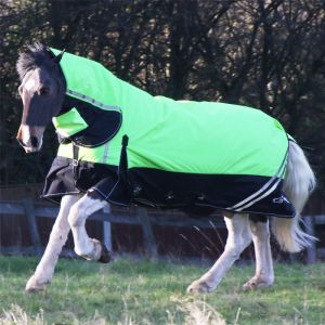 Gallop Hi-Vis 200g Combo Turnout Rug – Green/Black