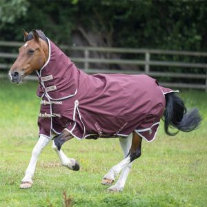 Gallop Trojan Xtra 100g Combo Turnout Rug – Burgundy/Beige