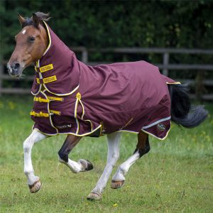 Gallop Trojan Xtra 200g Combo Turnout Rug – Burgundy/Yellow