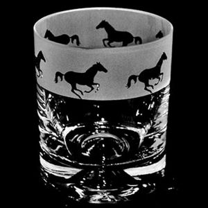 The Milford Collection Galloping Horse Whisky Tumbler