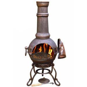 Gardeco Toledo Chimenea, Extra Large - Bronze