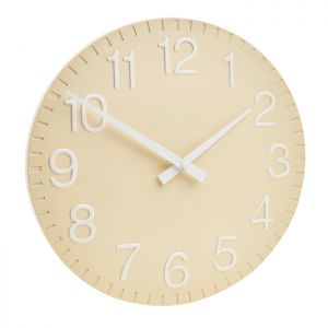 Gardman Wall Clock - Country Cream