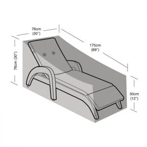 Garland Lounger Cover - Black