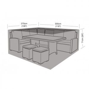 Garland Large Casual Dining Set Cover - Black