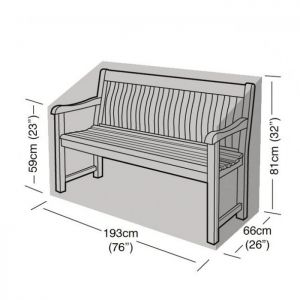 Garland 3-4 Seater Bench Cover - Black